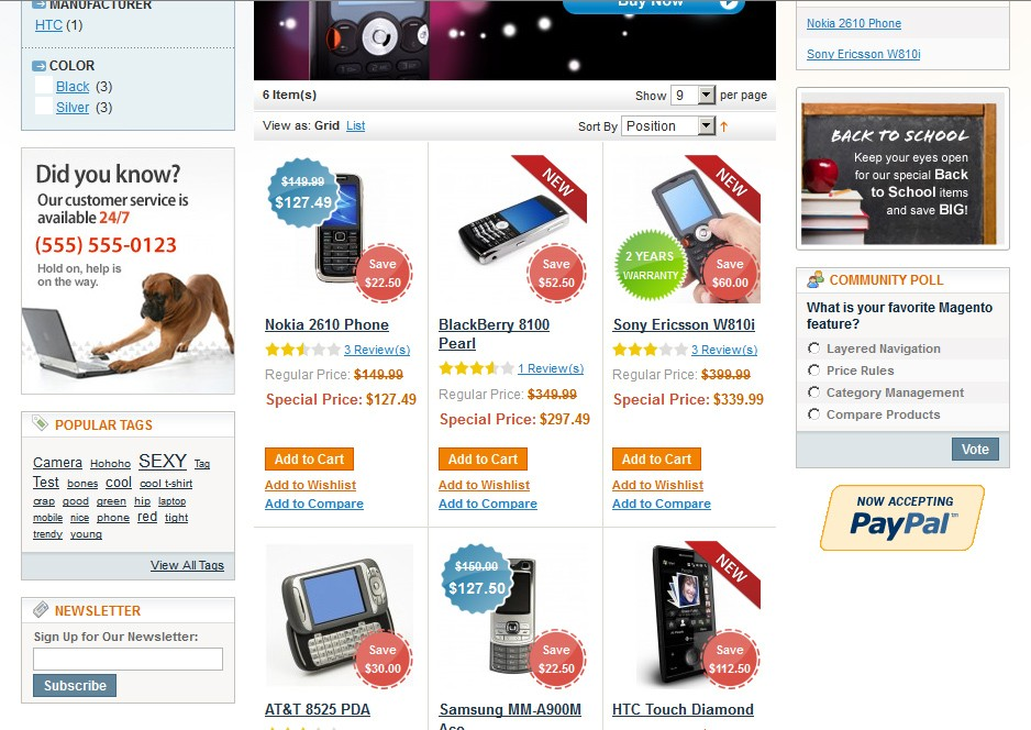 Magento Product Labels on Category list page