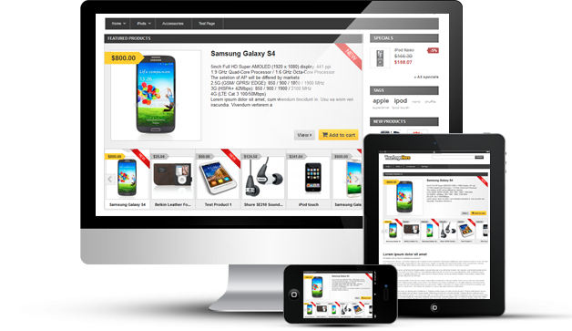 Light Featured Products Slider For PrestaShop on different devices