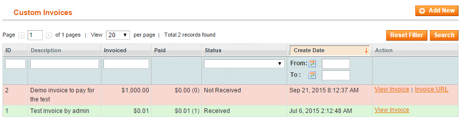 custom invoices generator for magento