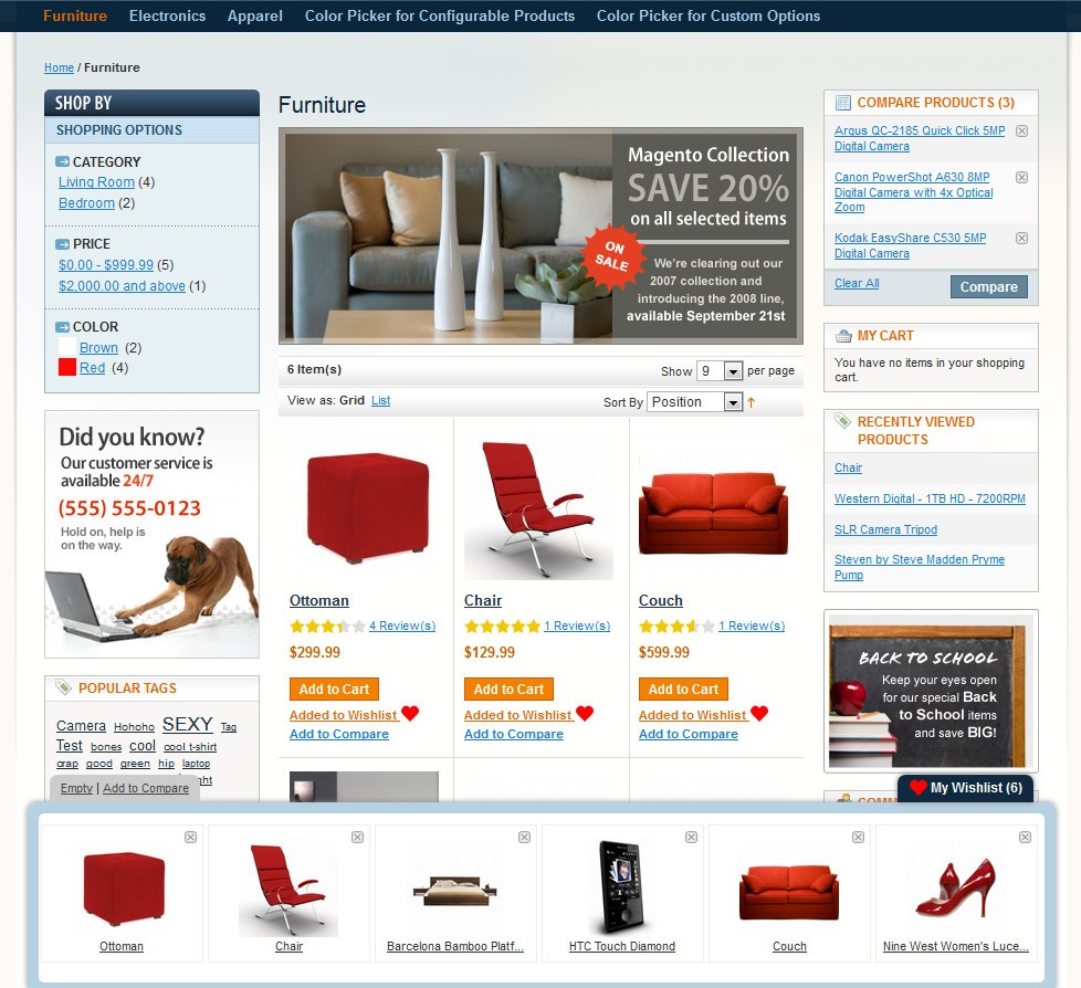 Magento Ajax Wishlist Panel with multiple products
