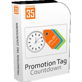 Magento Promotion Tag Countdown Logo
